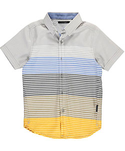 "Sean John Big Boys' ""Sunset Stripe"" S/S Button-Down (Sizes 8 – 20) - CookiesKids.com"
