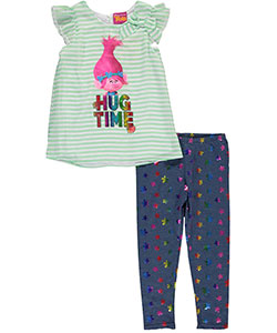 "Trolls Little Girls' Toddler ""Hug Time"" 2-Piece Outfit (Sizes 2T – 4T) - CookiesKids.com"