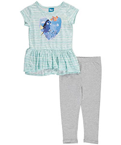 "Finding Dory Little Girls' ""Streaky Sweet"" 2-Piece Outfit (Sizes 4 – 6X) - CookiesKids.com"
