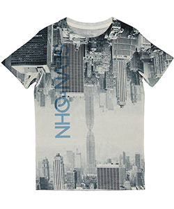 "Sean John Little Boys' ""Mirrored City"" T-Shirt (Sizes 4 – 7) - CookiesKids.com"