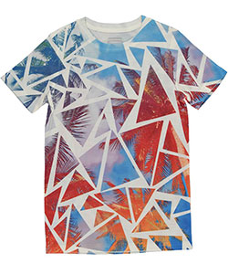 "Sean John Big Boys' ""Palm Tree Cutouts"" T-Shirt (Sizes 8 – 20) - CookiesKids.com"