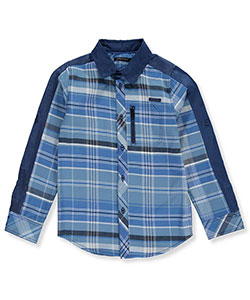 Sean John Big Boys' L/S Button-Down Shirt (Sizes 8 - 20) - CookiesKids.com