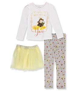 Disney Princess Little Girls' Toddler 3-Piece Outfit with Belle (Sizes 2T – 4T) - CookiesKids.com