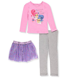 Shimmer and Shine Little Girls' Toddler 3-Piece Outfit (Sizes 2T – 4T) - CookiesKids.com
