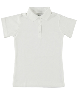 Elderwear Big Girls' S/S Pique Polo (Sizes 7 - 16) - CookiesKids.com