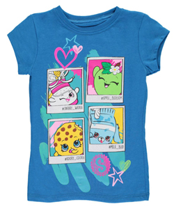"Shopkins Little Girls' ""Snapshots"" T-Shirt (Sizes 4 – 6X) - CookiesKids.com"