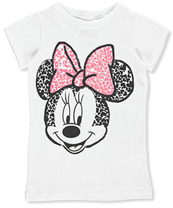 "Minnie Mouse Big Girls' ""Crackled Hearts"" T-Shirt (Sizes 7 – 16) - CookiesKids.com"