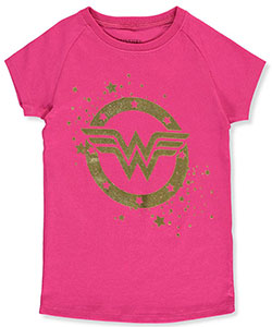 "Wonder Woman Big Girls' ""Diana's Stars"" T-Shirt (Sizes 7 – 16) - CookiesKids.com"