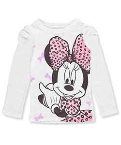 Minnie Mouse Big Girls' L/S T-Shirt (Sizes 7 – 16) - CookiesKids.com