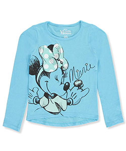 Disney Minnie Mouse Big Girls' L/S T-Shirt (Sizes 7 – 16) - CookiesKids.com