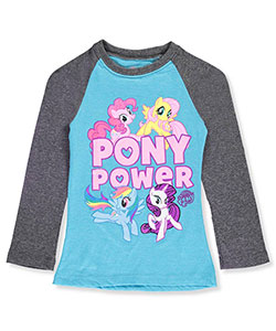 My Little Pony Little Girls' L/S Raglan Shirt (Sizes 4 – 6X) - CookiesKids.com