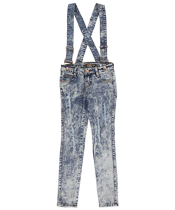 "Revolt Big Girls' ""Rips & Suspenders"" Skinny Jeans (Sizes 7 – 16) - CookiesKids.com"