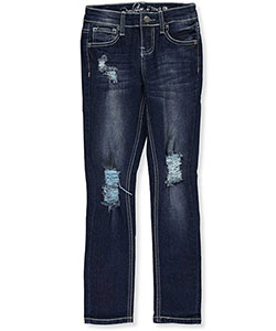 "Revolution by Revolt Big Girls' ""Stitched Fade"" Skinny Jeans (Sizes 7 – 16) - CookiesKids.com"
