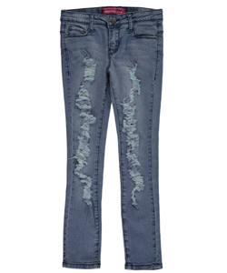 "Girly Girl USA Big Girls' ""Full Rip"" Skinny Jeans (Sizes 7 – 16) - CookiesKids.com"