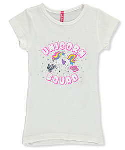 "Just 2 Cute Little Girls' ""Unicorn Squad"" T-Shirt (Sizes 4 – 6X) - CookiesKids.com"