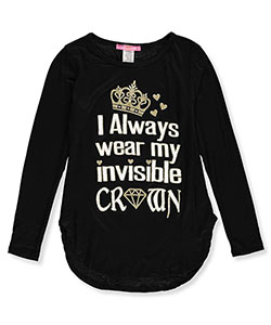 Just 2 Cute Big Girls' L/S T-Shirt (Sizes 7 – 16) - CookiesKids.com