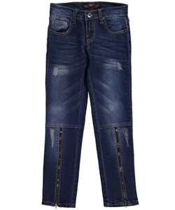 "Lavo Big Girls' ""Shin Zip"" Skinny Jeans (Sizes 7 – 16) - CookiesKids.com"