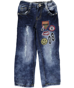 "Lavo Little Girls' Toddler ""Patchwork"" Skinny Jeans (Sizes 2T – 4T) - CookiesKids.com"