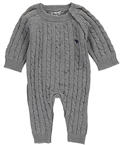 "Frenchie Mini Couture Unisex Baby ""Vogue Cable-Knit"" Coverall - CookiesKids.com"