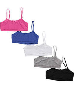 "Simply Adorable Big Girls' ""Bold Bows"" 5-Pack Bralettes (Sizes 7 – 16) - CookiesKids.com"