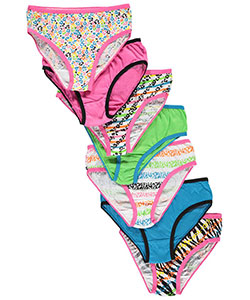"Simply Adorable Big Girls' ""Feline Stripes"" 7-Pack Bikini Underwear (Sizes 7 – 16) - CookiesKids.com"