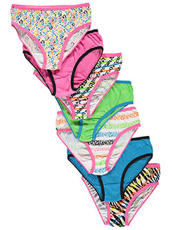 "Simply Adorable Little Girls' ""Feline Stripes"" 7-Pack Bikini Underwear (Sizes 4 – 6X) - CookiesKids.com"