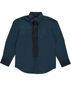 "Van Heusen Big Boys' ""Higher Up"" Button-Down Shirt with Tie (Sizes 8 – 20) - CookiesKids.com"