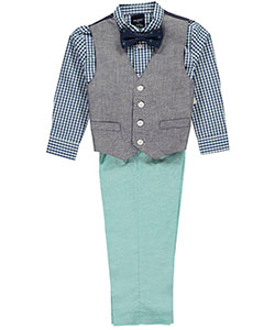 "Nautica Little Boys' Toddler ""At the Wheel"" 4-Piece Vest Set (Sizes 2T – 4T) - CookiesKids.com"