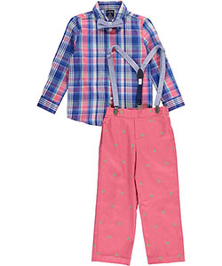 "Izod Little Boys' Toddler ""Sunny Style"" 4-Piece Outfit (Sizes 2T – 4T) - CookiesKids.com"