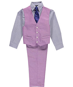 "Young Kings Big Boys' ""Carnaby"" 4-Piece Vest Set (Sizes 8 – 20) - CookiesKids.com"