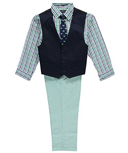"Izod Big Boys' ""Sea Style"" 4-Piece Vest Set (Sizes 8 – 20) - CookiesKids.com"
