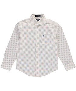 "Izod Big Boys' ""Multi Dot"" Button-Down Shirt (Sizes 8 – 20) - CookiesKids.com"