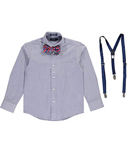 "Izod Big Boys' ""Spiffy"" Dress Shirt & Accessories Set (Sizes 8 – 20) - CookiesKids.com"