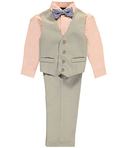 "TFW Little Boys' ""Saratoga"" 4-Piece Vest Set (Sizes 4 – 7) - CookiesKids.com"