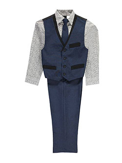 "TFW Big Boys' ""Chandler"" 4-Piece vest Set (Sizes 8 – 20) - CookiesKids.com"