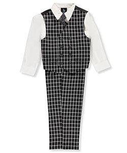 Young Kings Little Boys' Toddler 4-Piece Vest Set (Sizes 2T – 4T) - CookiesKids.com