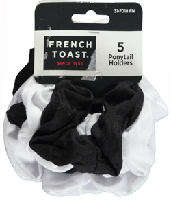 French Toast 5-Pack Ponytail Holders - CookiesKids.com