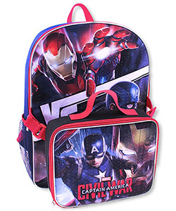"Captain America ""Team of Rivals"" Backpack with Lunchbox - CookiesKids.com"