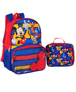 Mickey Mouse Backpack with Insulated Lunchbox - CookiesKids.com
