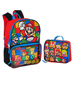 Super Mario Brothers Backpack with Insulated Lunchbox - CookiesKids.com