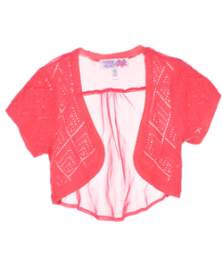 "Derek Heart Big Girls' ""Diamond Knit"" Shrug (Sizes 7 – 16) - CookiesKids.com"