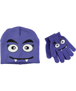 "Soothers Little Girls' ""Ahra"" Beanie & Gloves Set (Youth One Size) - CookiesKids.com"