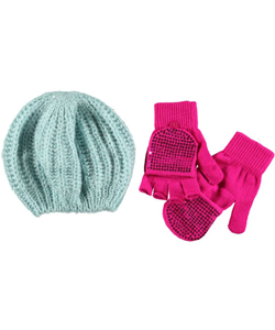"Chatties ""Sequin Mohair"" Beret & Gloves Set (Youth One Size) - CookiesKids.com"