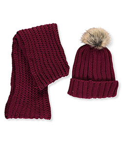 Rampage Girls' Beanie & Scarf Set (Youth One Size) - CookiesKids.com