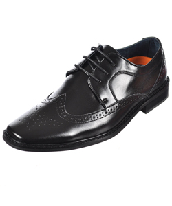 "Goodfellas Boys ""Brogue Wingtip"" Dress Shoes (Youth Sizes 13 – 4) - CookiesKids.com"