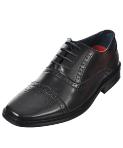 "Goodfellas Boys ""Brogue Wingtip Classic"" Dress Shoes (Youth Sizes 13 – 4) - CookiesKids.com"