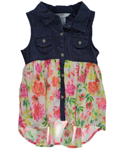 "Guess Little Girls' ""Chiffon Sweetened"" Tunic (Sizes 4 – 6X) - CookiesKids.com"