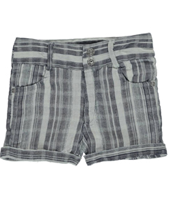 "Guess Little Girls' ""Woven Stripes"" Short Shorts (Sizes 4 – 6X) - CookiesKids.com"