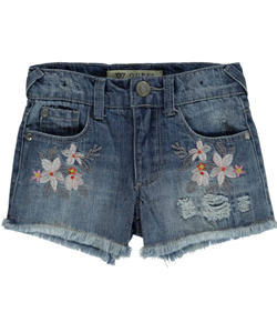 "Guess Little Girls' ""Beads & Blossoms"" Short Shorts (Sizes 4 – 6X) - CookiesKids.com"