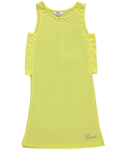 "Guess Big Girls' ""Sequin Accent"" Tunic Tank Top (Sizes 7 – 16) - CookiesKids.com"